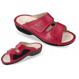 3701-P94 piros bütyökkímélő, női, bőr papucs, 36-41