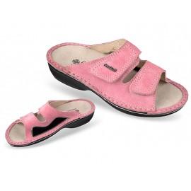 3701-P107 rózsaszín bütyökkímélő, női, bőr papucs, 36-41